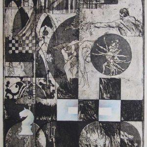 Hommage a Bobby Fischer, 50 x 65 cm
