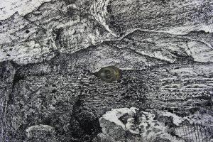 Print with jade snake, 80 x 60 cm