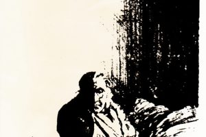 Oude vrouw, 1971/1972, litho, 30 x 40 cm