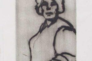 My mother, drypoint, 1/1, 8 x 15 cm