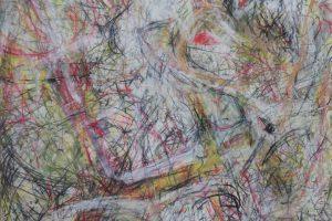 zt, 70 x 100 cm, pencil, crayon and spray.