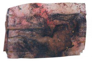 Deciling figure, 20 x 15 cm, mixed media on paper