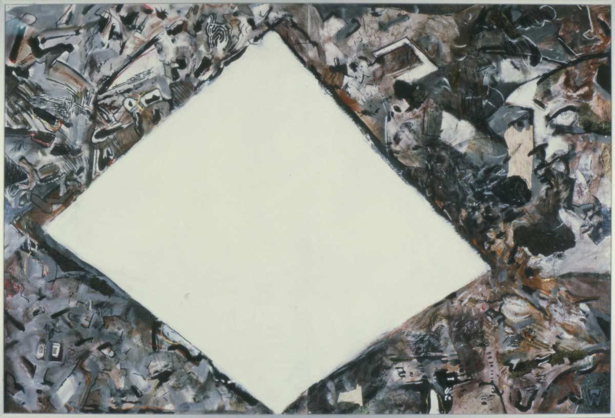 Little white hole, 150 x 120 cm