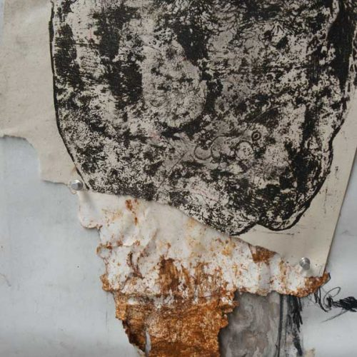 etching, clay, rust