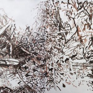 drawing with an angle 3.50 x 1.50 m