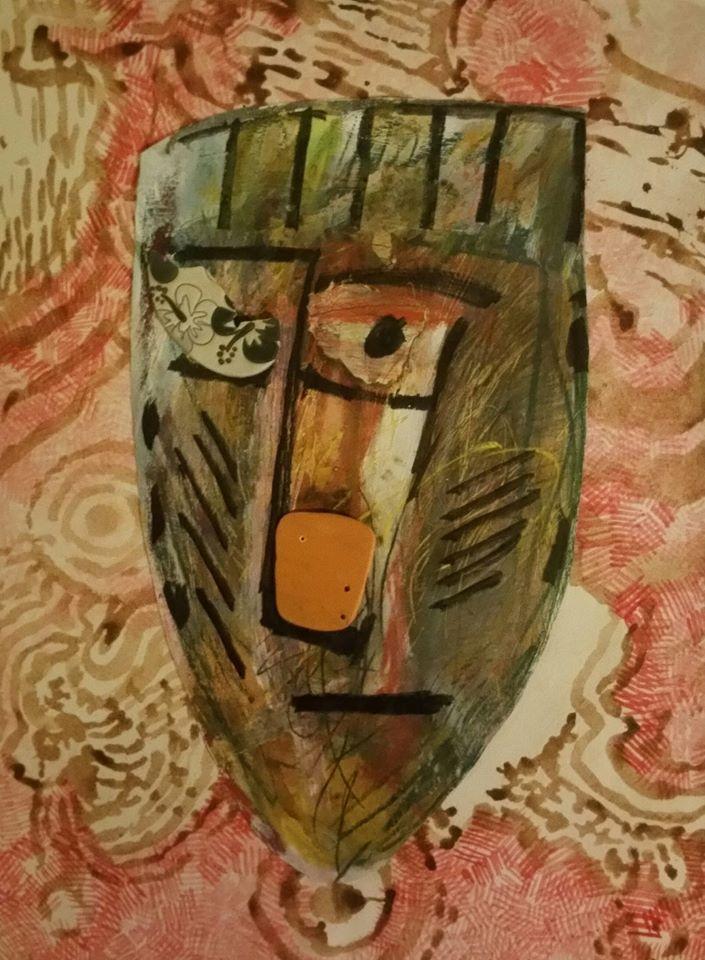 Mask on background