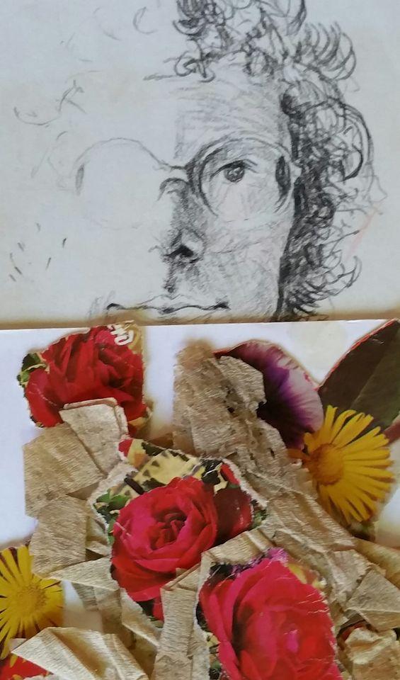 Met een bosje bloemen van Janna DekkerHietink