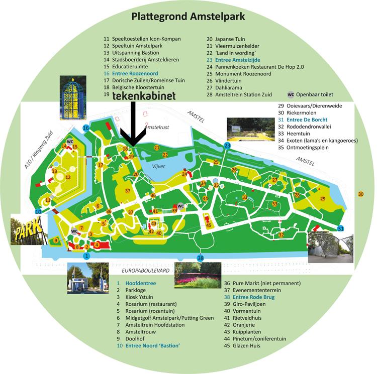 Plattegrond Tekenkabinet Amstelpark